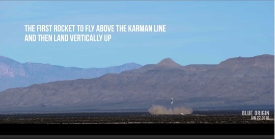 Blue Origin lands rocket vertically