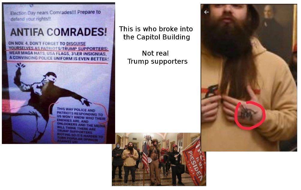 Communist Antifa invaded the capitol building