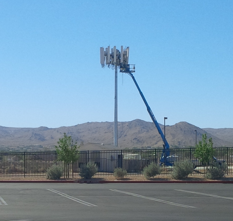 5G Cell tower installation