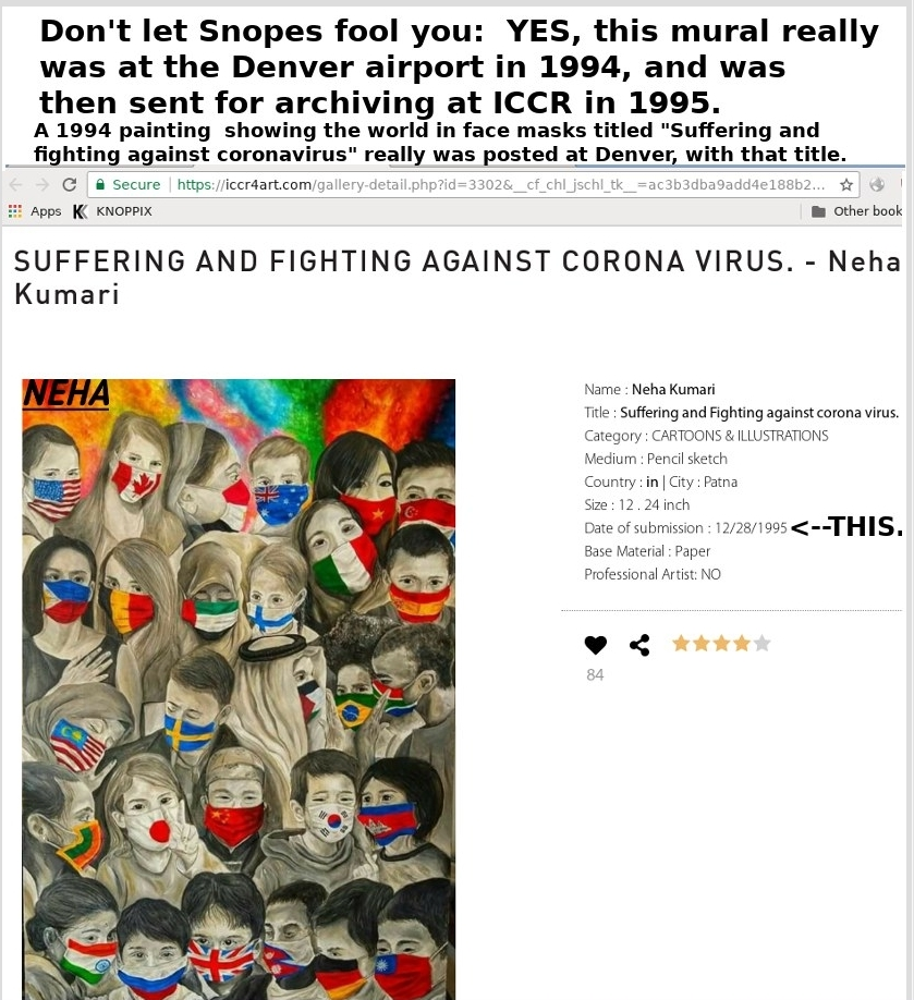 Denver officials KNEW about Corona Virus 1994 at opening