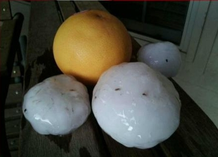 Grapefruit sized hail -OK- 5-20-2013