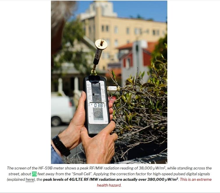 4G Extreme Hazard at 75 ft measurement