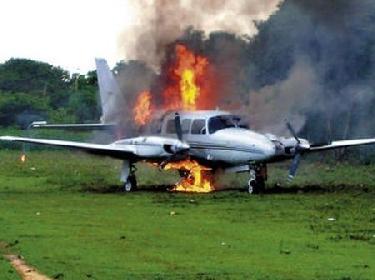 drug plane - Honduras