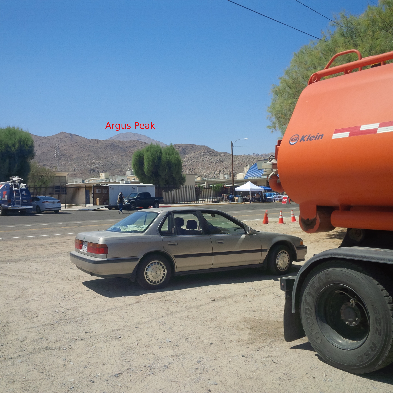 Water trucks arrive