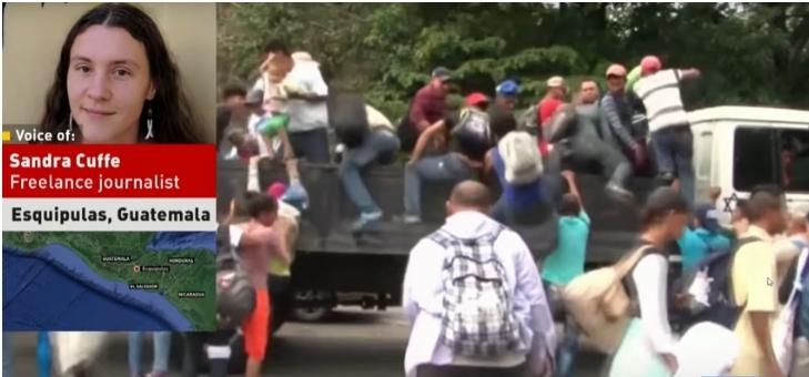 Israeli truck transporting caravan