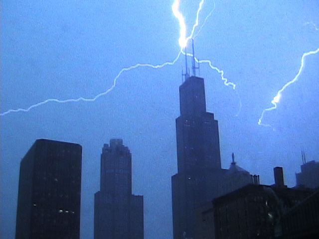 Sears Tower Lightening Strike