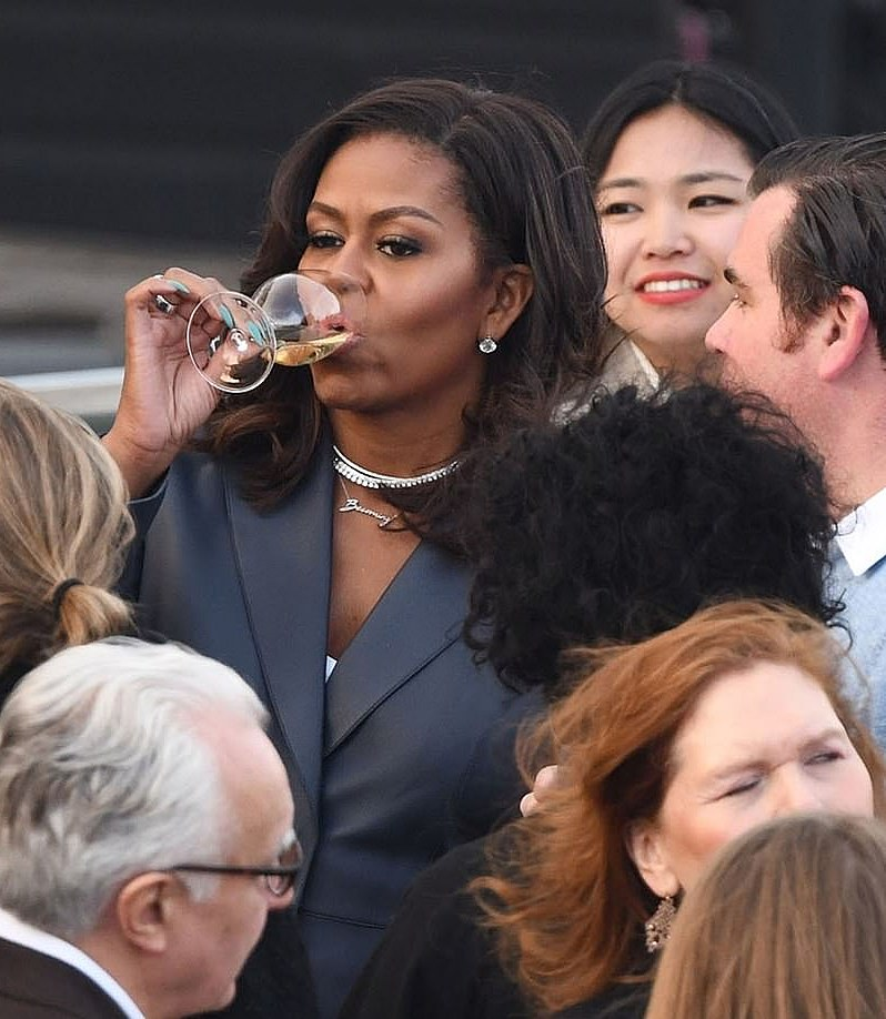 Michelle Obama on Seine River cruise