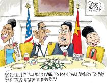 Obama - Hu State Dinner