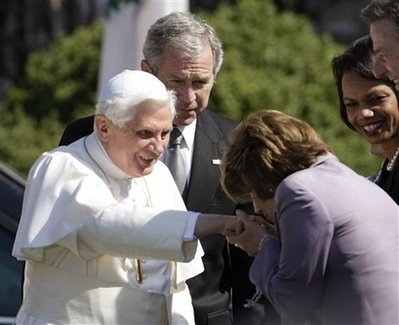 Pope Bush Pelosi Rice