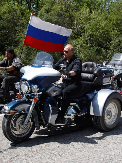 Putin driving Harley