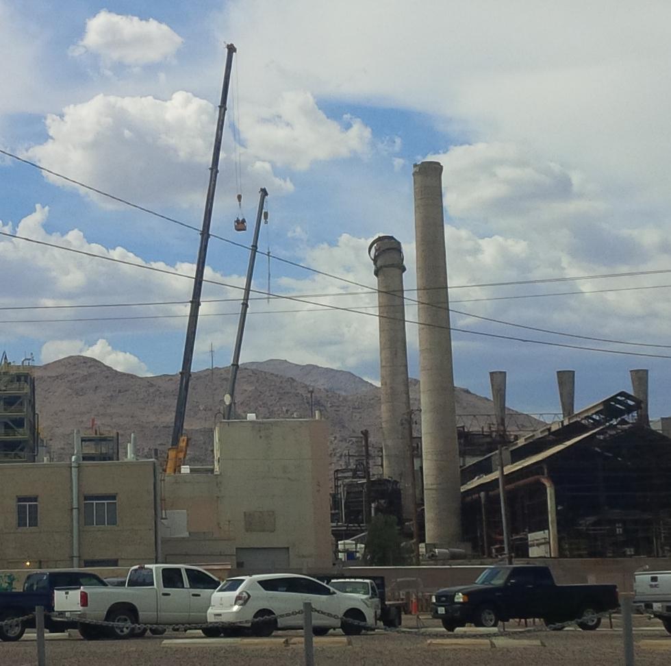 Tall Crane Repairs following 7.1 earthquake - Searles Valley Minerals