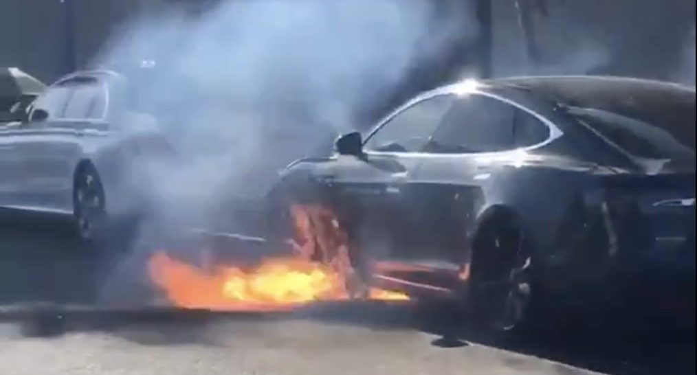 Tesla Fire Los Angeles