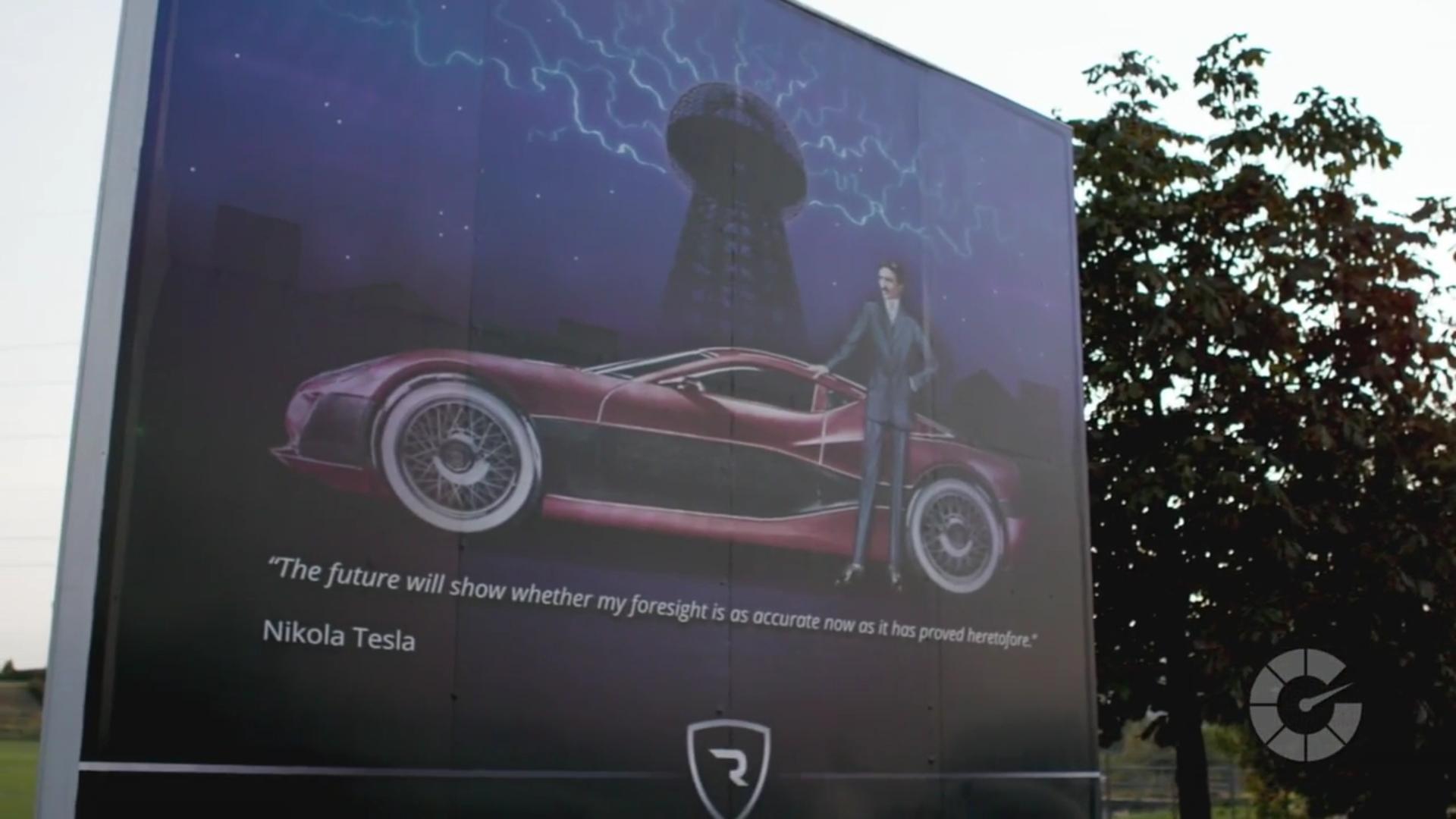 Nikola Tesla Rimac Billboard