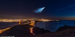 Trident launch over San Francisco