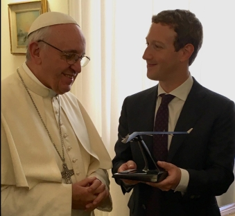 Pope Francis Mark Zuckerberg