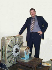 Dennis Lee with ultra efficient electric generator