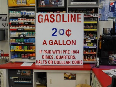 Gas 20 cents a gallon