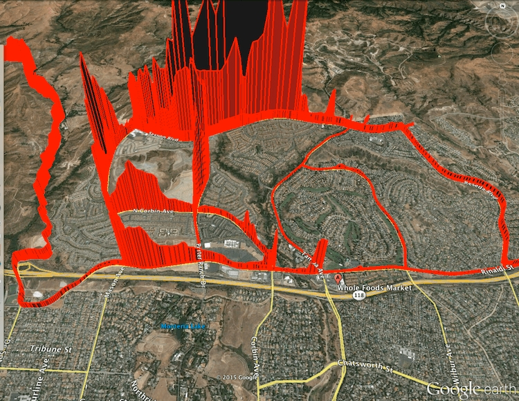 Porter Ranch Methane Leak Map